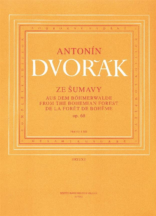 DVORAK - From the Bohemian Forest Opus 68. 4 Hands - Partition - di-arezzo.co.uk