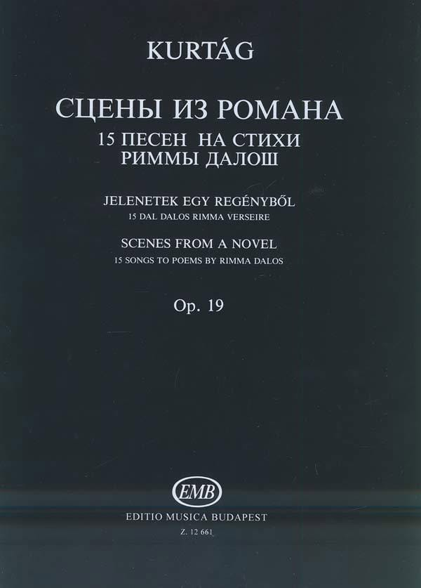 Scènes de Roman Op. 19 - György Kurtag - Partition - laflutedepan.com