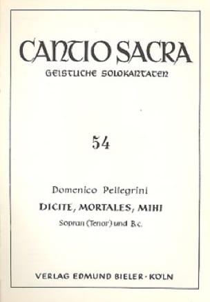Dicite, Mortales, Mihi - Domenico Pellegrini - laflutedepan.com