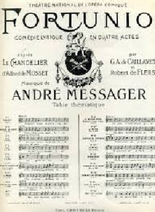 André Messager - When I was only a child. Fortunio - Partition - di-arezzo.co.uk