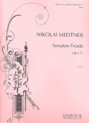 Nicolai Medtner - Sonaten-Triad Opus 11 - Partition - di-arezzo.es