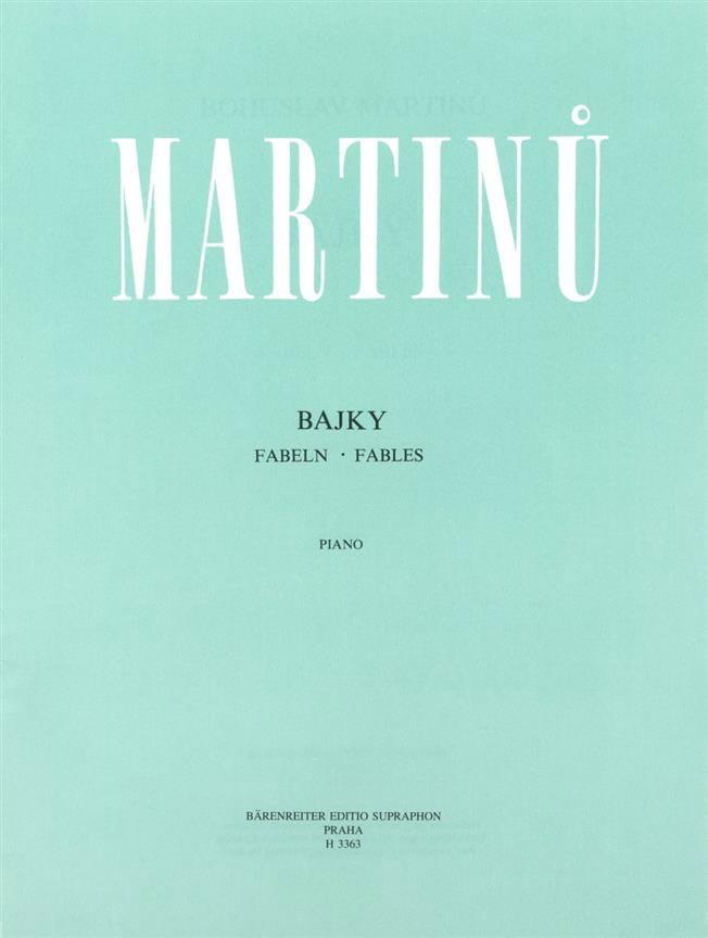 Fables - MARTINU - Partition - Piano - laflutedepan.com