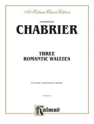 3 Valses Romantiques. 4 Mains - CHABRIER - laflutedepan.com