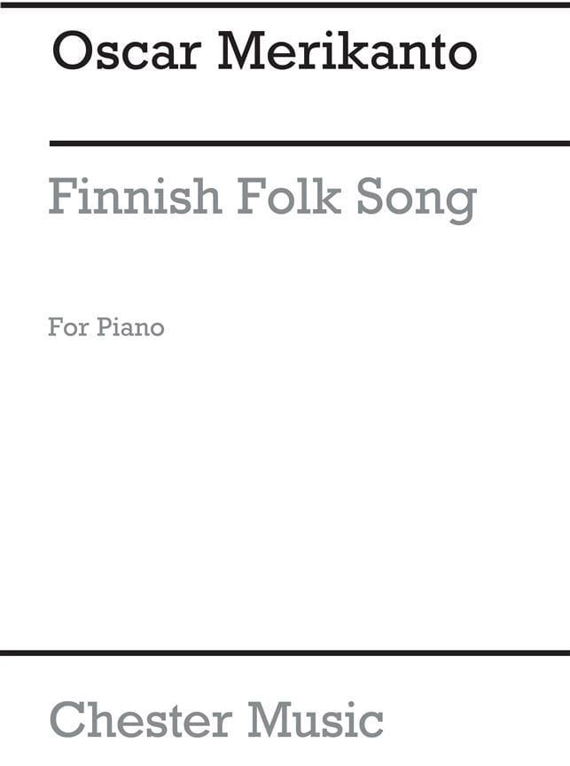 Finnish Folk Song - Oskar Merikanto - Partition - laflutedepan.com