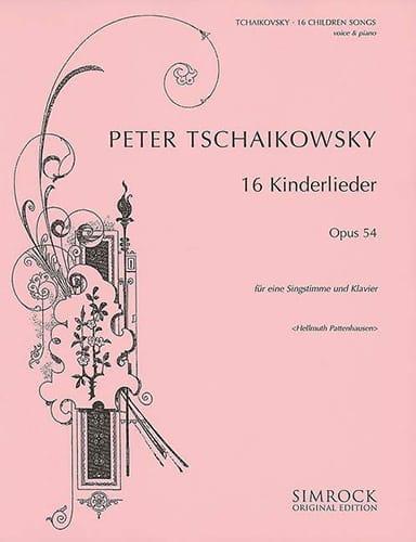 16 Kinderlieder Op. 54 - TCHAIKOVSKY - Partition - laflutedepan.com