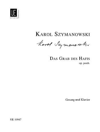 Das Grab Hafisa - SZYMANOWSKI - Partition - laflutedepan.com