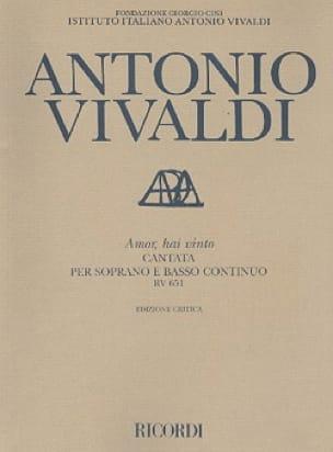 VIVALDI - Amor Hai Vinto RV 651 - Partition - di-arezzo.com