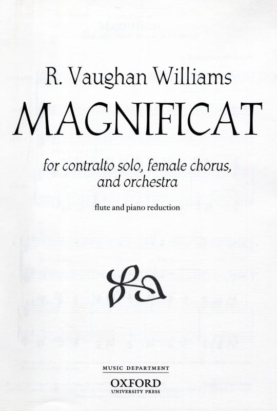 Williams Ralph Vaughan - Magnificat - Partition - di-arezzo.com