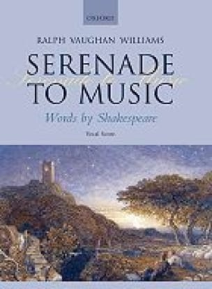 Williams Ralph Vaughan - Serenade To Music - Partition - di-arezzo.com