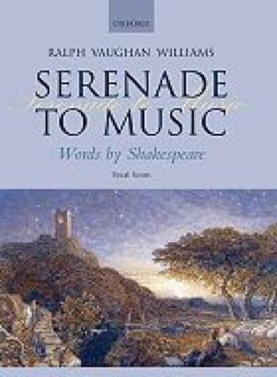 Williams Ralph Vaughan - Serenade To Music - Partition - di-arezzo.fr