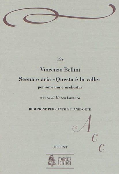 Vincenzo Bellini - Scena Aria Questa E la Valle - Partition - di-arezzo.com