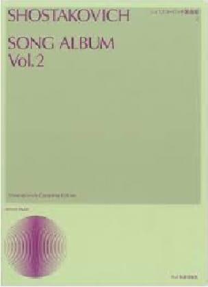 Song Album 2 - CHOSTAKOVITCH - Partition - Mélodies - laflutedepan.com