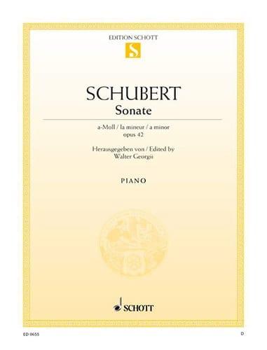 Sonate En la Mineur Op. 42. D 845 - SCHUBERT - laflutedepan.com