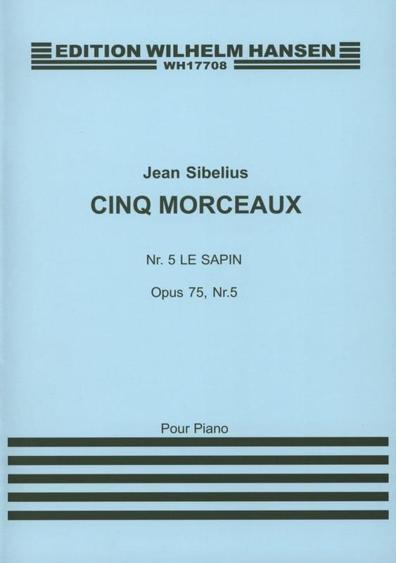 Le Sapin Opus 75-5 - SIBELIUS - Partition - Piano - laflutedepan.com
