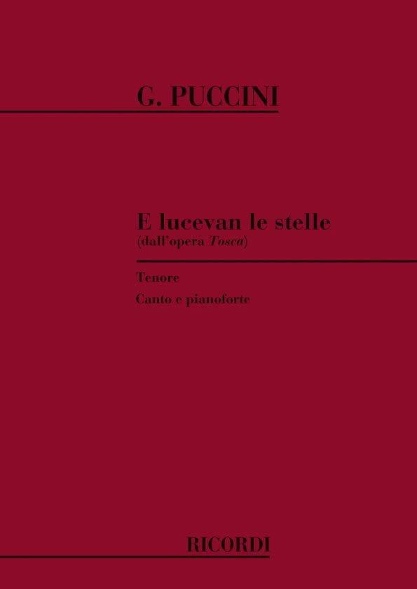 Giacomo Puccini - E Lucevan le Stelle. Tosca - Partition - di-arezzo.com