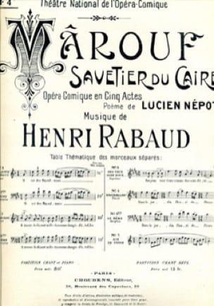 A Travers le Désert. Marouf, Savetier Du Caire. - laflutedepan.com