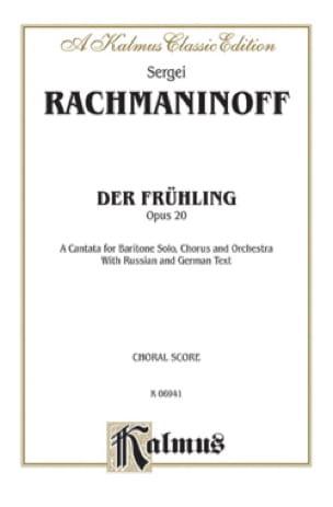 RACHMANINOV - Der Fruhling Op. 20 - Partition - di-arezzo.com
