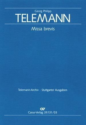 Missa Brevis Tvwv 9-14 - TELEMANN - Partition - laflutedepan.com