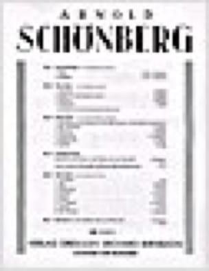 Abschied Op. 1-2 - Arnold Schoenberg - Partition - laflutedepan.com