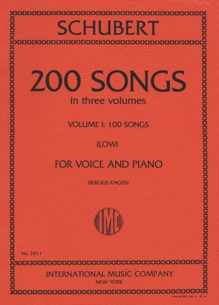 200 Songs Volume 1. Voix Grave - SCHUBERT - laflutedepan.com