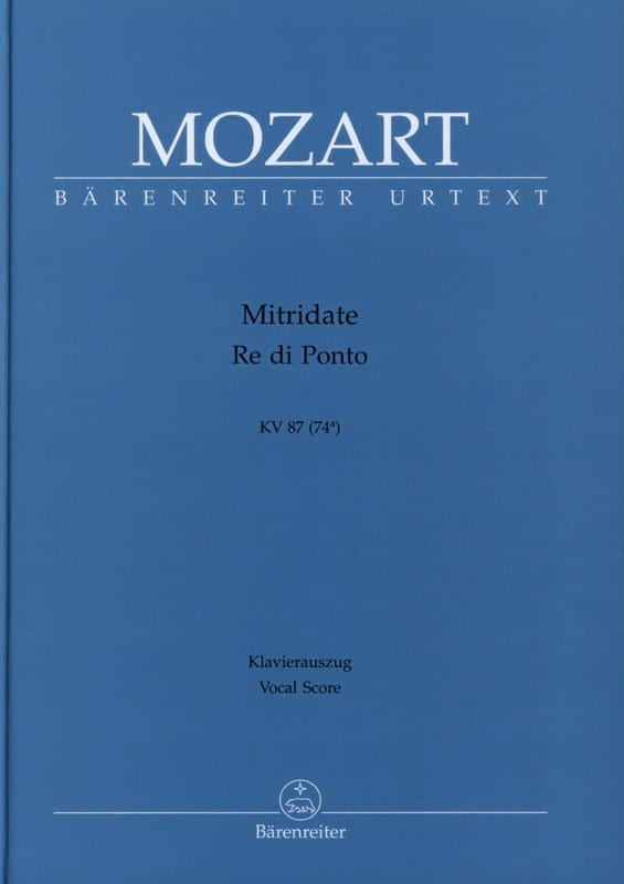 Mitridate, Re Di Ponto. Kv 87 74a - MOZART - laflutedepan.com