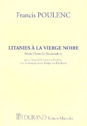 Francis Poulenc - Litanies to the Black Madonna - Choir alone - Partition - di-arezzo.co.uk
