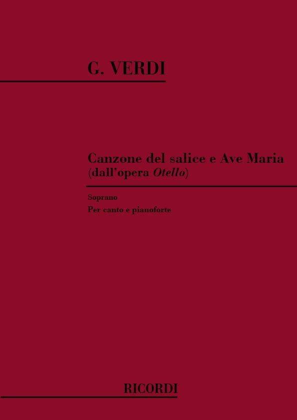 VERDI - Canzone Del Salice - Ave Maria. Otello - Partition - di-arezzo.co.uk