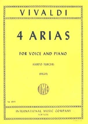 VIVALDI - 4 Arias High Voice - Partition - di-arezzo.co.uk