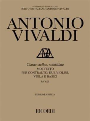 VIVALDI - Clarae Stellae, Scintillatte RV 625. Driver - Partition - di-arezzo.com