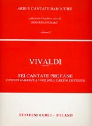VIVALDI - 6 Cantate Profane Volume 1 - Partition - di-arezzo.co.uk