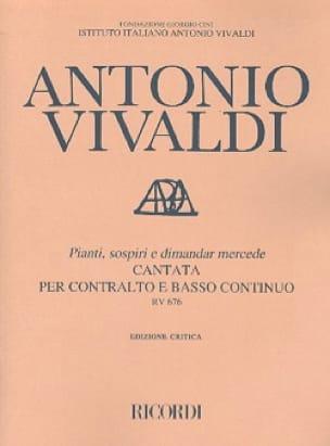 VIVALDI - Pianti, Sospiri E Dimandar Mercede RV 676. - Partition - di-arezzo.co.uk
