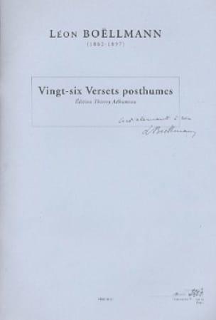 Léon Boëllmann - 26 Posthumic Verses - Partition - di-arezzo.co.uk