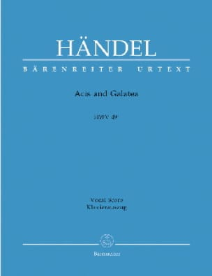 HAENDEL - Acis And Galatea. HWV 49a 1st version - Partition - di-arezzo.com