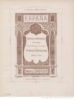 España. 2 Pianos 8 Mains. - CHABRIER - Partition - laflutedepan.com