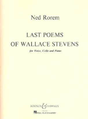 Last Poems Of Wallace Stevens - Ned Rorem - laflutedepan.com