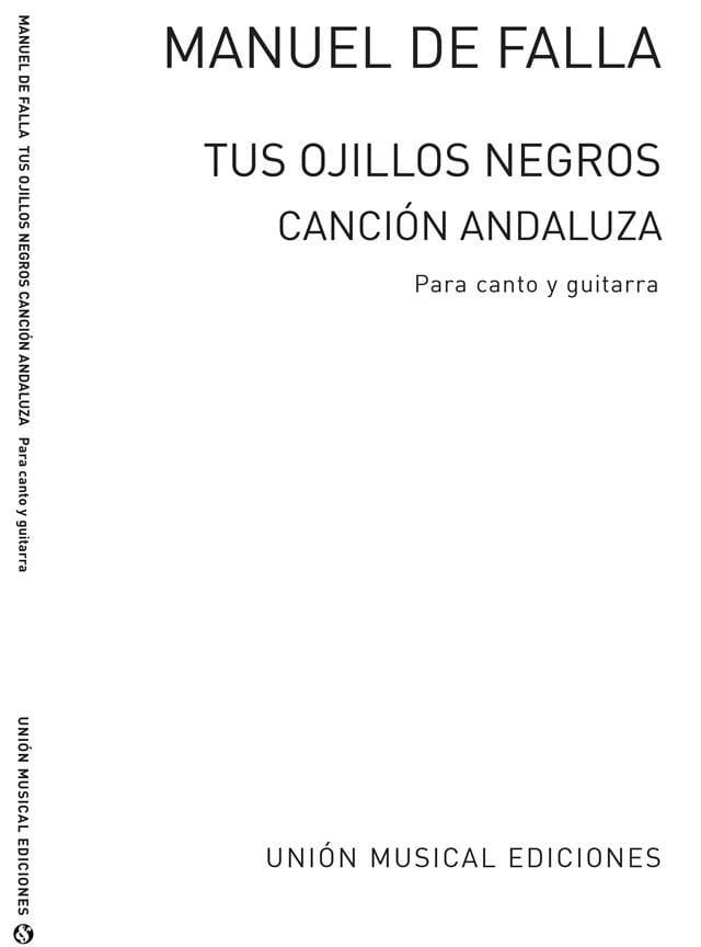 DE FALLA - Tus Ojillos Negros - Partition - di-arezzo.fr