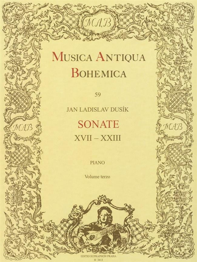 Sonates Volume 3 - Jan Ladislav Dussek - Partition - laflutedepan.com