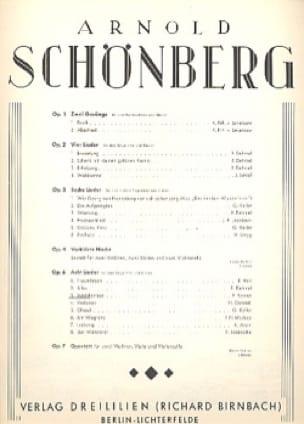 Mädchenlied Op. 6-3 - SCHOENBERG - Partition - laflutedepan.com