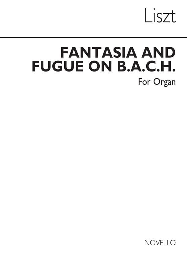 Franz Liszt - Fantasy and Fugue on BACH Organ - Partition - di-arezzo.com