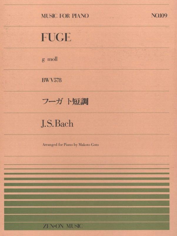 Fugue En Sol Mineur BWV 578 - BACH - Partition - laflutedepan.com