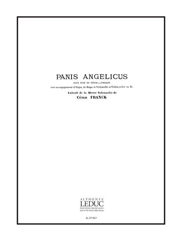 Panis Angelicus - FRANCK - Partition - laflutedepan.com