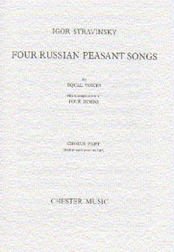 4 Russian Peasant Songs. Version 1954 - STRAVINSKY - laflutedepan.com