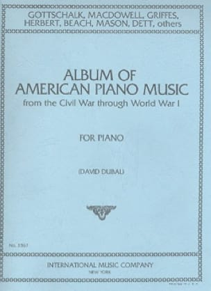 Album Of American Piano Music - Partition - laflutedepan.com