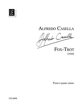 Fox-Trot 4 Mains - Alfredo Casella - Partition - laflutedepan.com