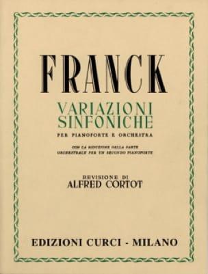 César Franck - Symphonic variations. 2 Pianos - Partition - di-arezzo.com