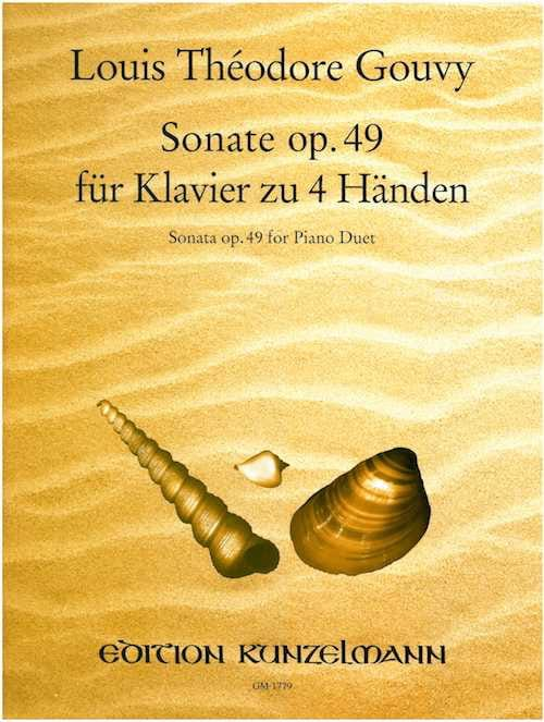 Sonate Op. 49. 4 Mains - Louis Théodore Gouvy - laflutedepan.com