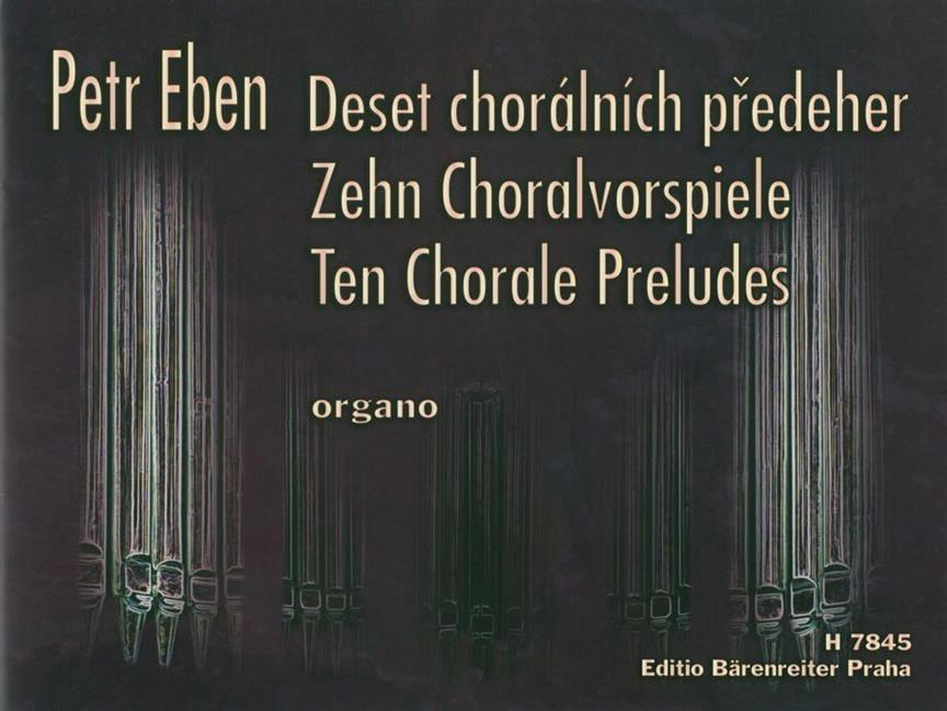 Petr Eben - 10 Preludes of Chorales - Partition - di-arezzo.co.uk