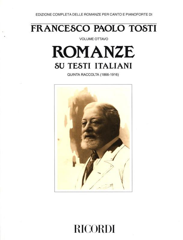 Francesco Paolo Tosti - Romanze Di Ambiente Napoletano - Partition - di-arezzo.co.uk