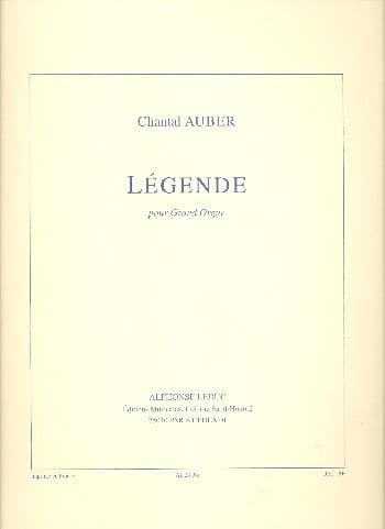 Légende - Chantal Auber - Partition - Orgue - laflutedepan.com