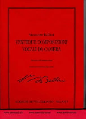 Vincenzo Bellini - 22 Composizioni Vocali Da Camera - Partition - di-arezzo.com